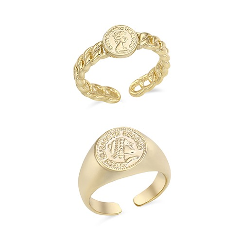 Antique Coin Ring - 2 Design